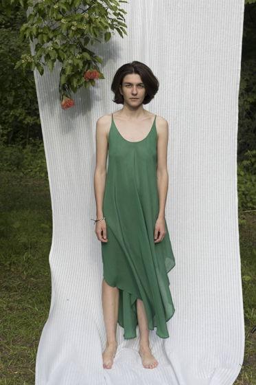 """Летящее летнее платье """"Конечно"""" зеленое"""