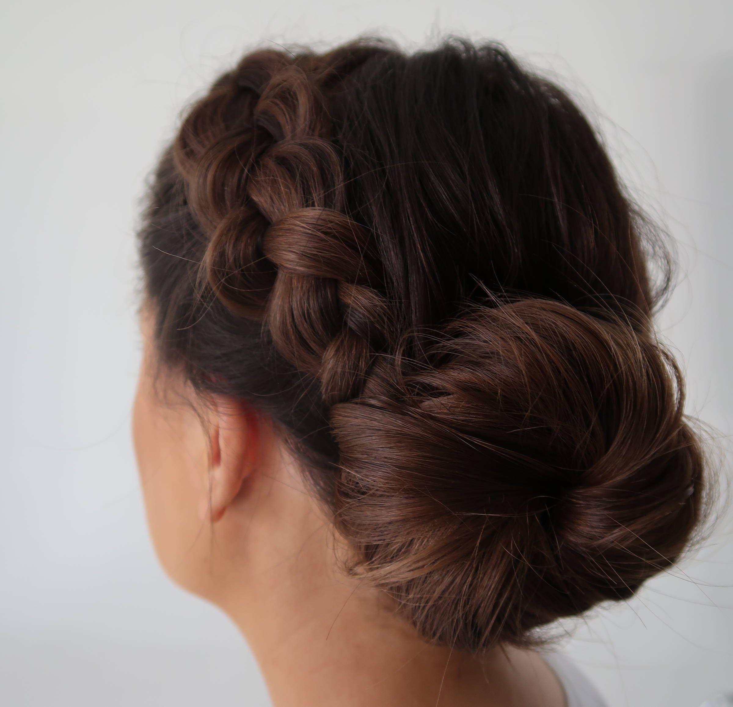 Davines crown braid how to tutorial