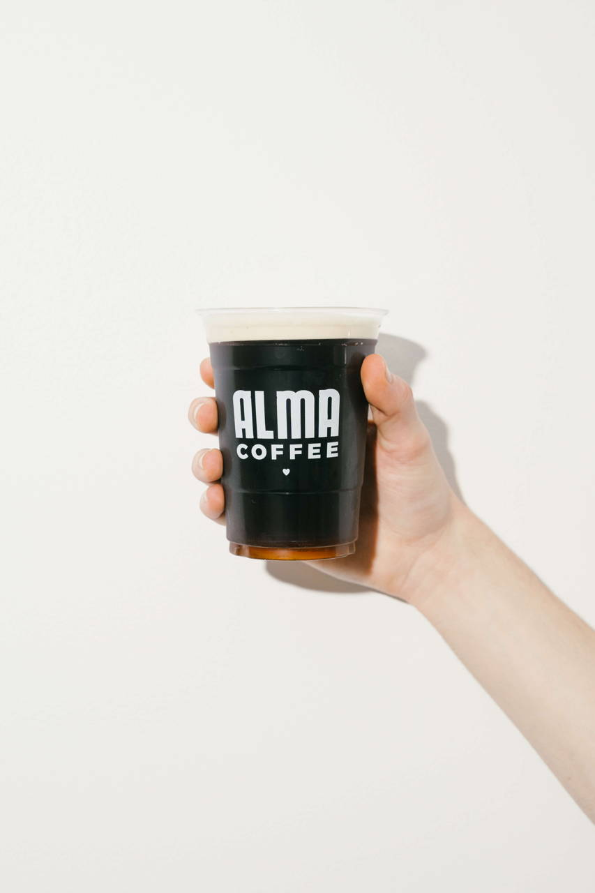 Cold brew in human hand