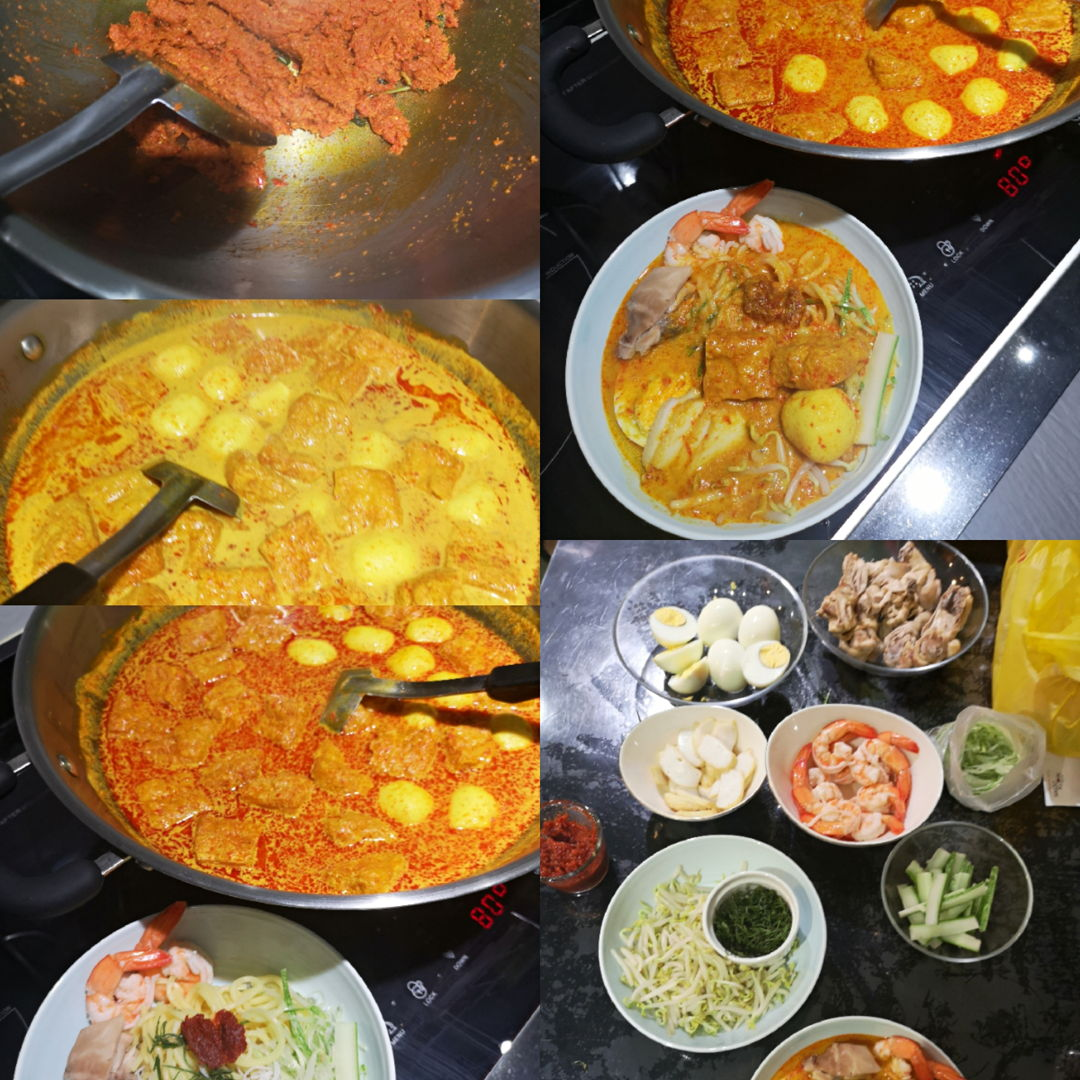 9Aug2019 Singapore national day! Was thinking of whipping everyone favourite.. Prepare the rempah n chilli boh 1 nite B4. On national itself just fry the rempah n make the broth... Rest of ingredients... And wala! Taste so authentic, tradition n heaven! My family love it! Tks grace.. I shall try the cukur cuker on Sunday!