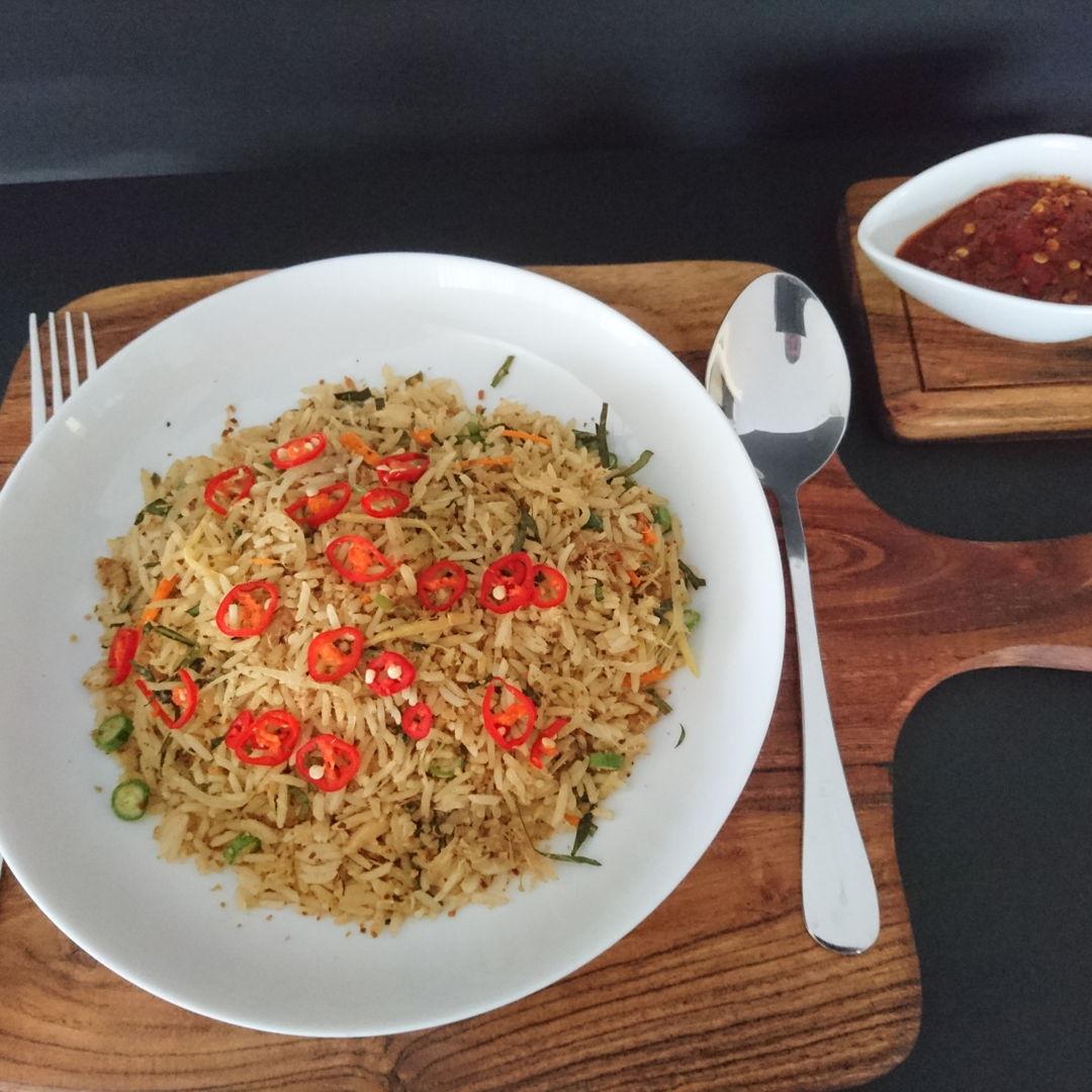Date: 24 Nov 2019 (Sun) Nasi Ulam Nyonya (Peranakan Rice Salad) served with Sambal Belacan (Raw Chillies with Shrimp Paste)