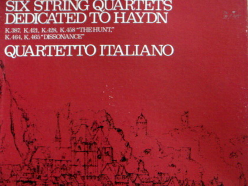 Philips / QUARTETTO ITALIANO, - Mozart Six String Quartets dedicated to Haydn,  NM, 3LP Box Set!