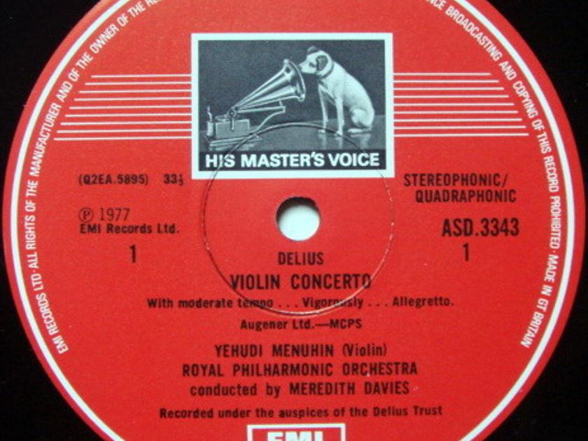 EMI ASD STAMP-DOG / MENUHIN-TORTELIER, - Delius Violin & Double Concertos, MINT!