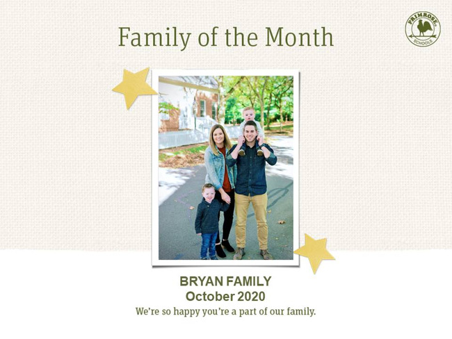 bryan family of the month