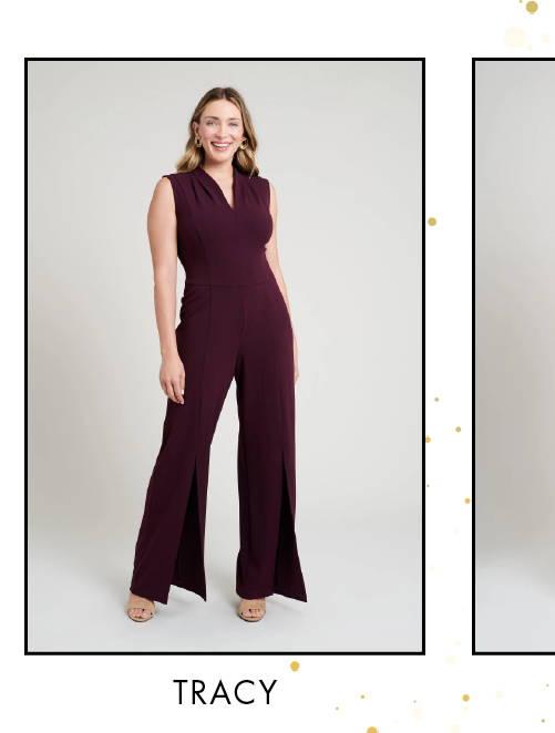 Shop Tracy Bordeaux Jumpsuit >
