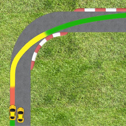 correct overtake position