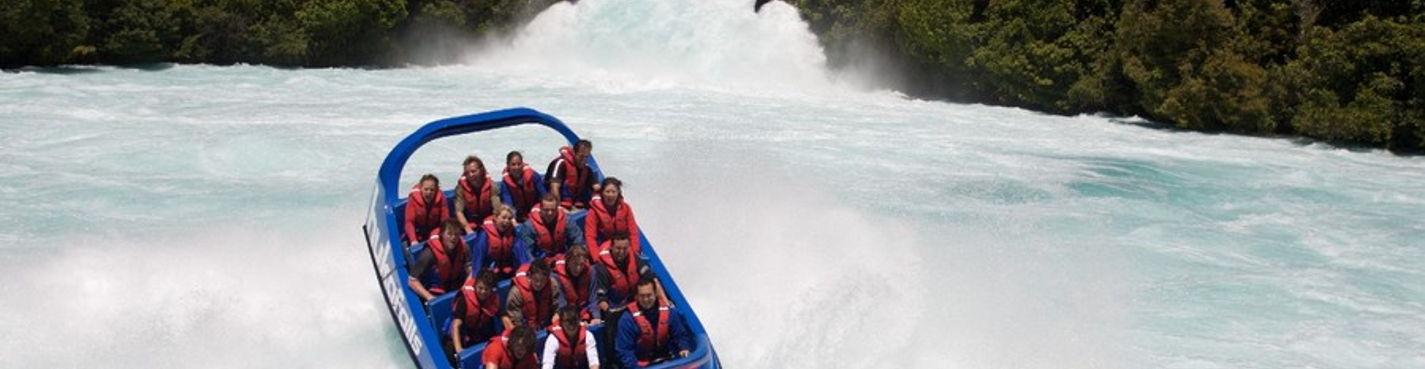 4. Экскурсия к водопаду Хука и посещение креветочной фермы Хука Провн Парк. Таупо.