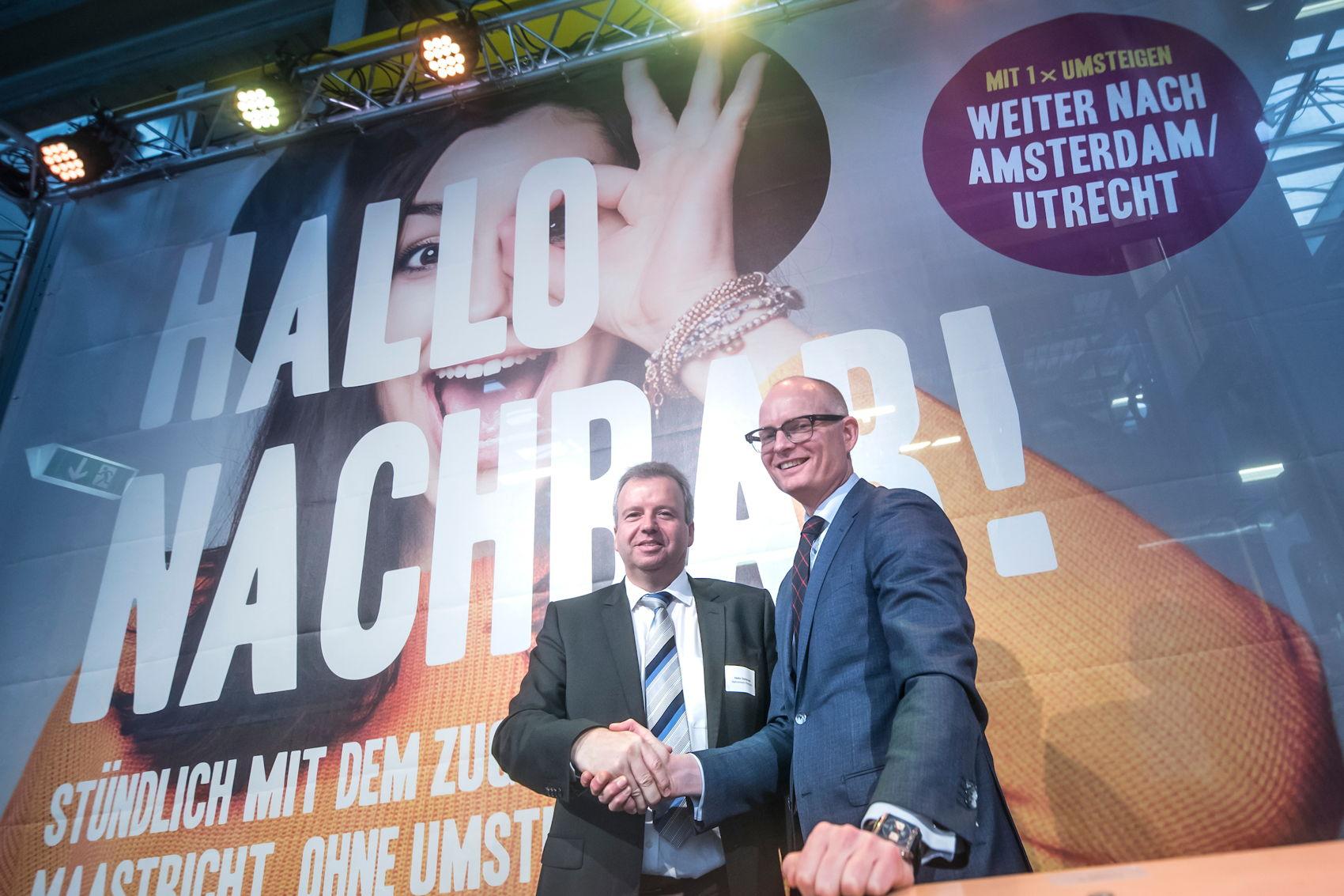 Infrastruktur für internationale Zugverbindung Aachen-Maastricht steht