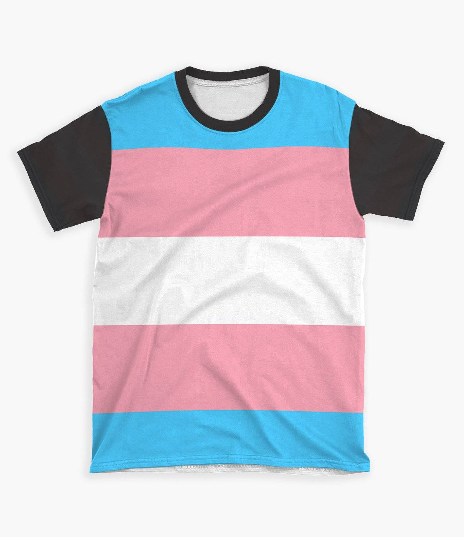 transexual flag shirt