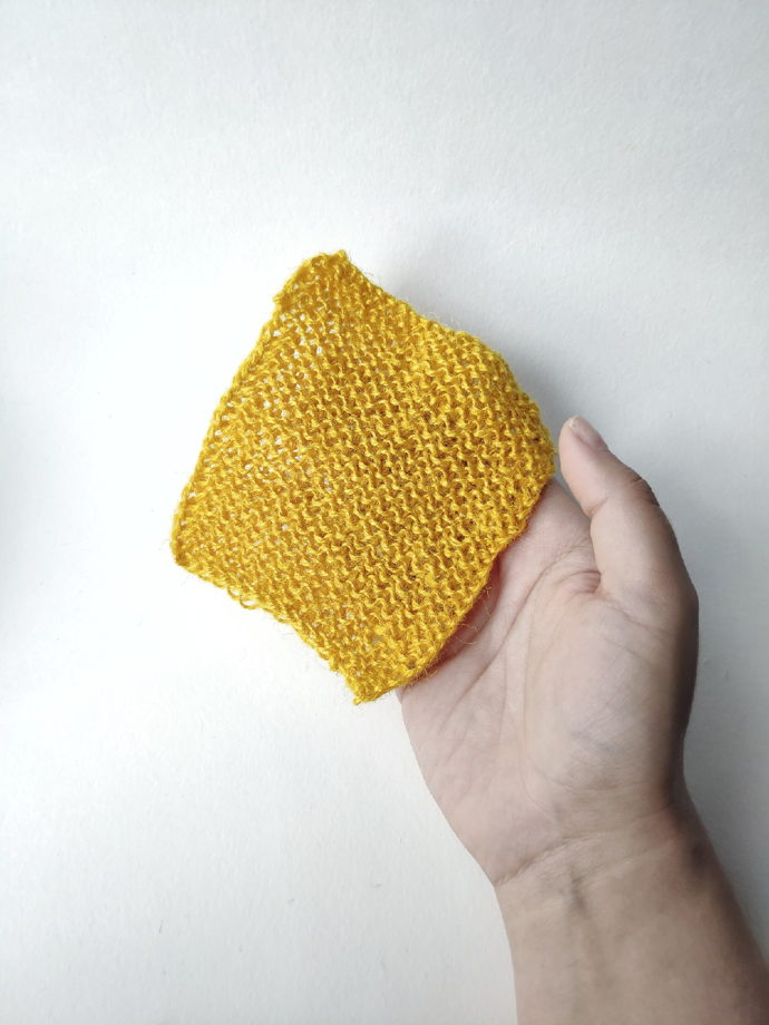 Мочалка из джута цветная натуральная для мытья посуды прямоугольная