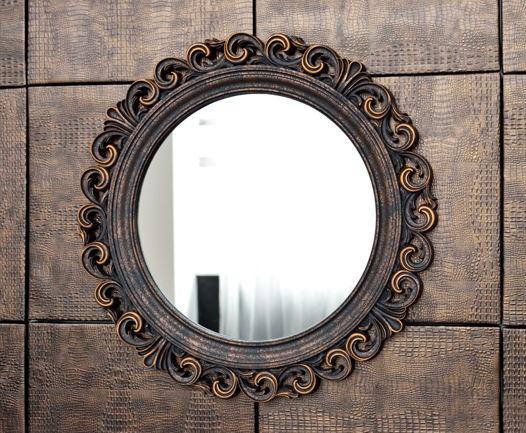 Зеркало в раме круглое