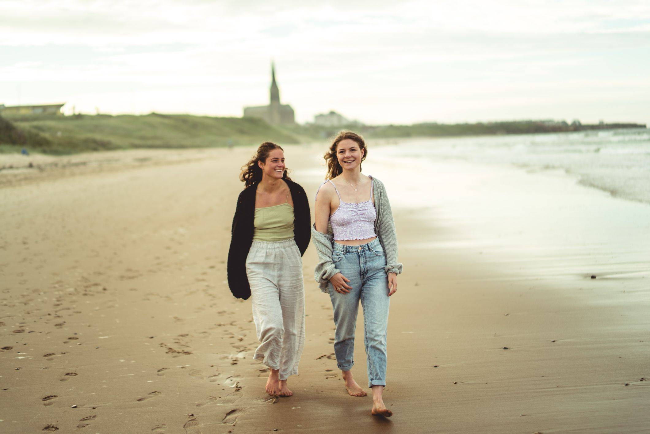 Image of chloe and georgie on beach