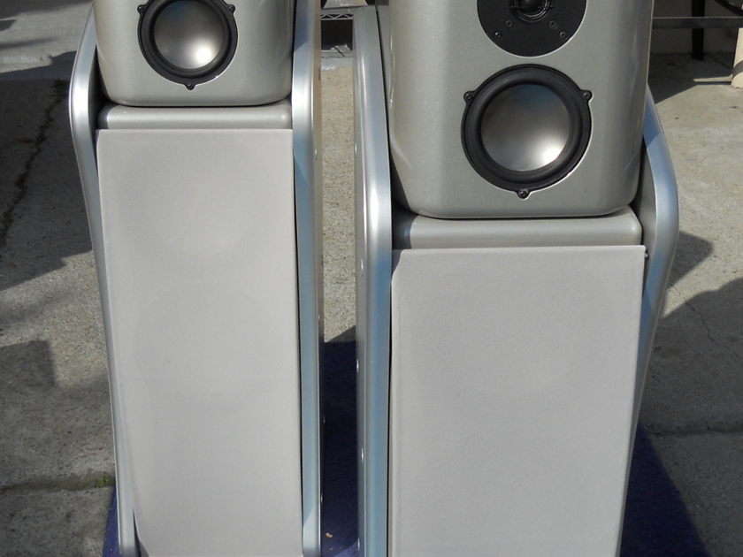 Revel Ultima Studio and Voice LCR speakers and center stand