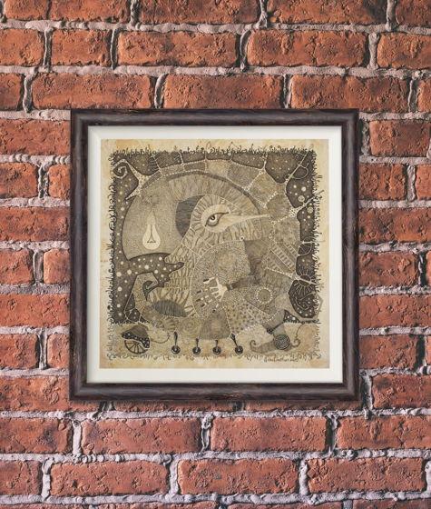 Картина «Луноход» - оригинал иллюстрации к книге В.Пелевина