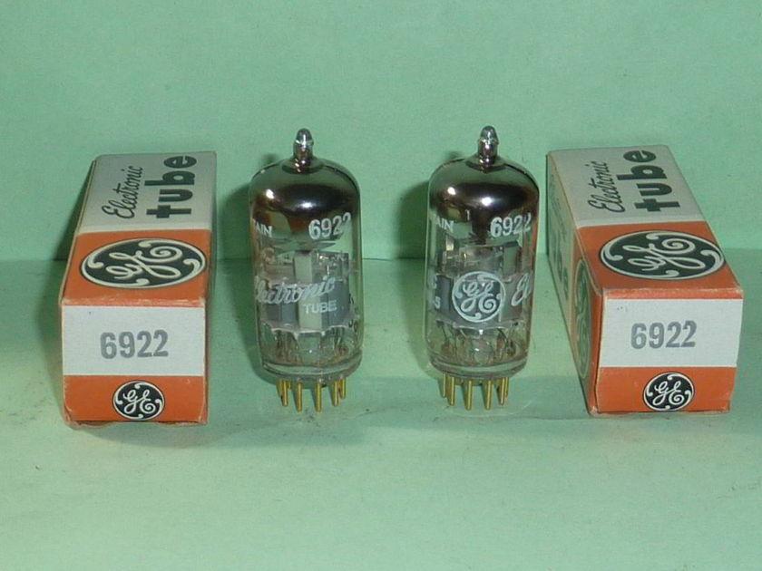 Mullard (GE) 6922 E88CC 6DJ8 ECC88 Gold Pin Tubes, Matched Pair, NOS, NIB, Tested
