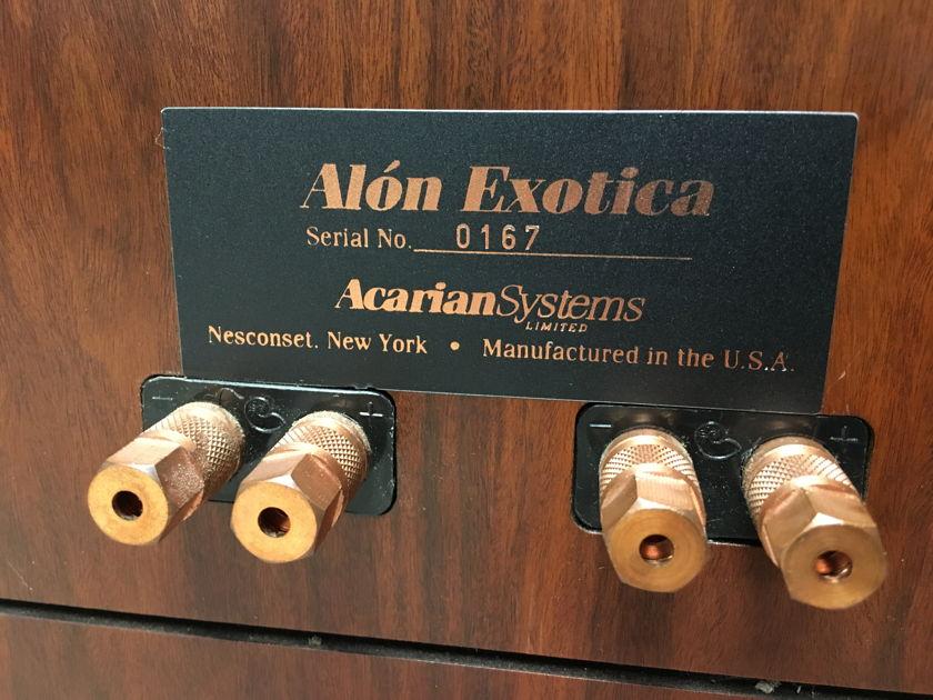 Alon  Exotica  3 way w/ Ribbon tweeter, floorstaning speaker pair (Nola)