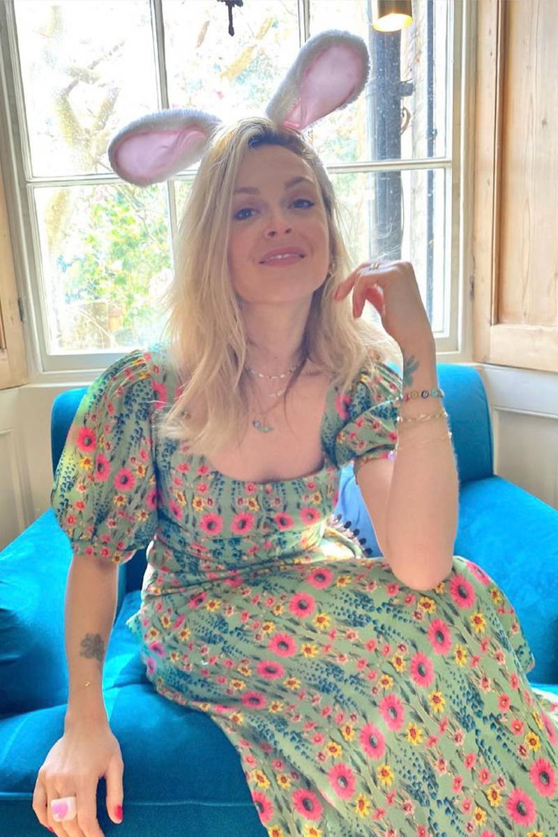 TV Presenter and personality, Fearne Cotton, Wore the Wildflowers Joni Dress in Bay on Easter morning