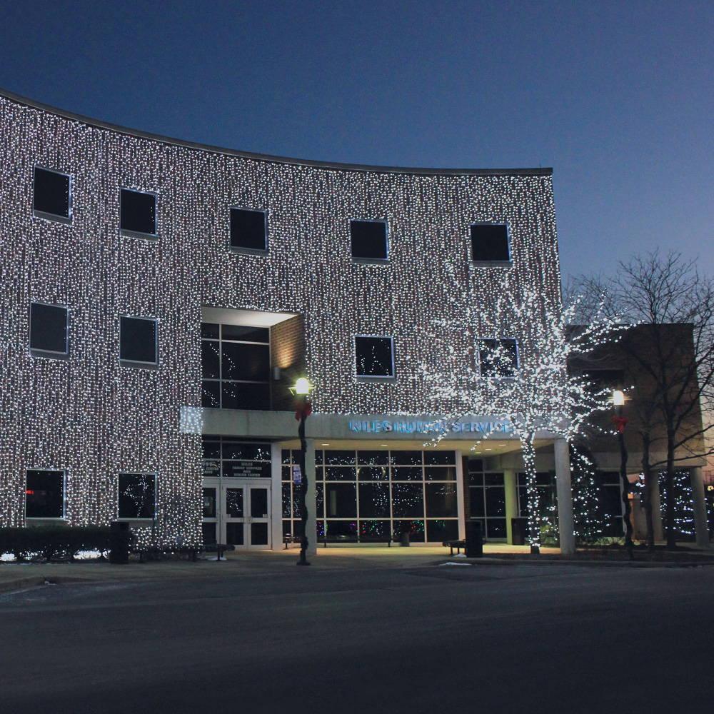Facade Curtain Lighting - Municipal Christmas Display