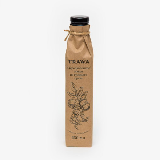 Сыродавленное масло грецкого ореха TRAWA