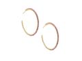Birdie Gold Hoop Earrings in Pink Rhodonite