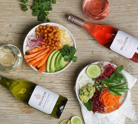 ワインの色と食材の色をあわせる
