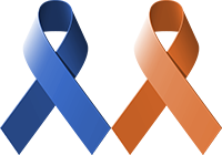 Blue Orange Ribbons