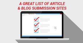 Top 50 Blog and Article Submission Sites - Instant Approval