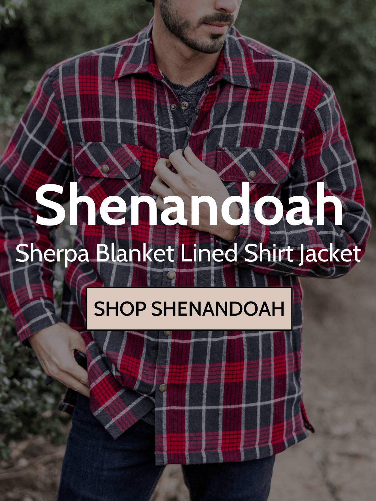 Man wearing shenandoah shirt jacket