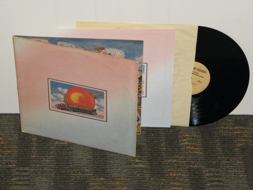 "The Allman Brothers - ""Eat A Peach"" 1st press soft paper gatefold cover Capricorn labels w/INSERT"