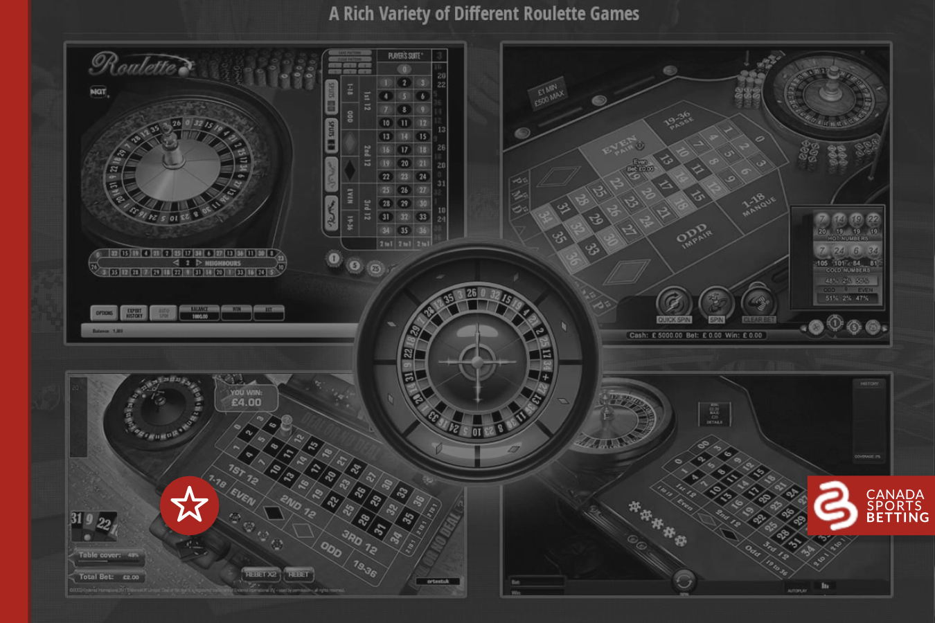 Learn the Difference between the Types of Roulette Games Available Online