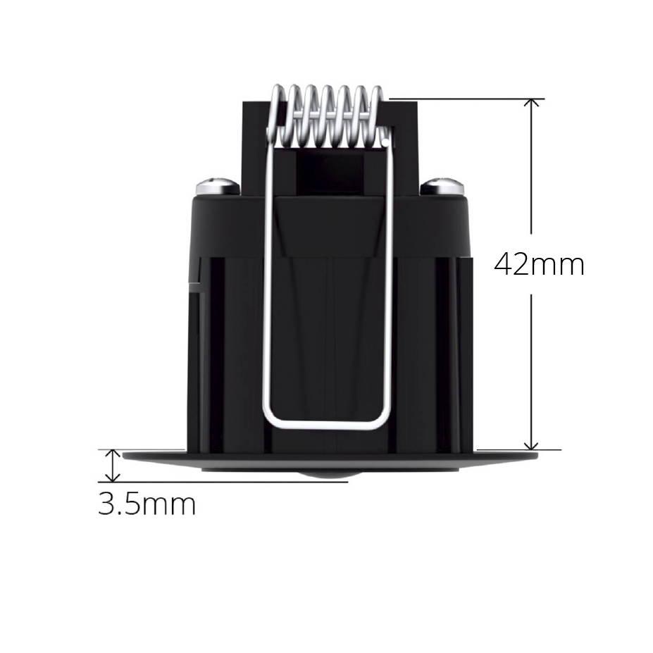 Black Faradite IP67 Motion Sensor 360 depth dimensions