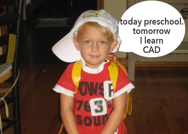 little boy imagining his future