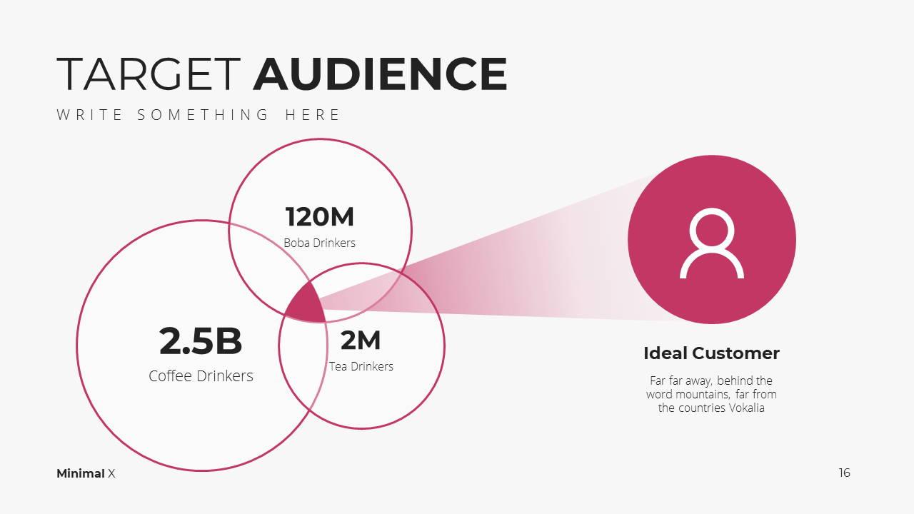 Minimal X Digital Marketing Proposal Presentation Template Target Audience