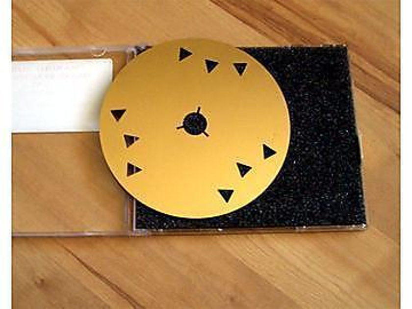 Marigo Audio Signature Gold 3-D V2 Stabilizer Mat ***** Lightly Used - Like New *****