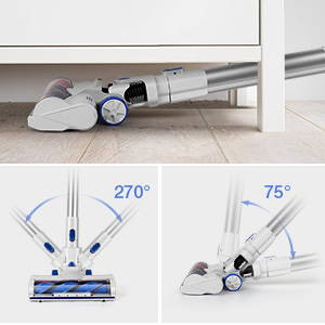APOSEN Upgraded 3rd Cordless Vacuum Cleaner with flexible vrush head