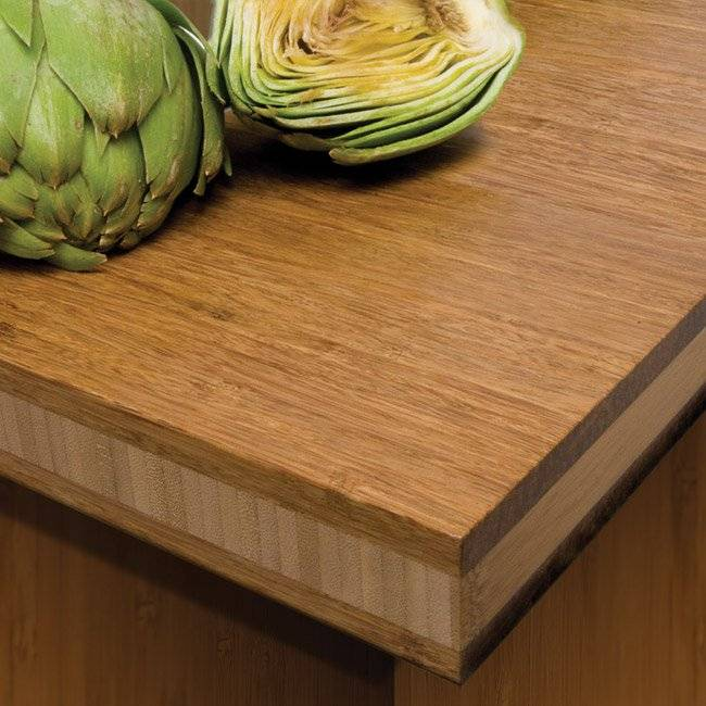 Sustainable Bamboo Countertop in Eco Conversion Van - The Vansmith Green Package