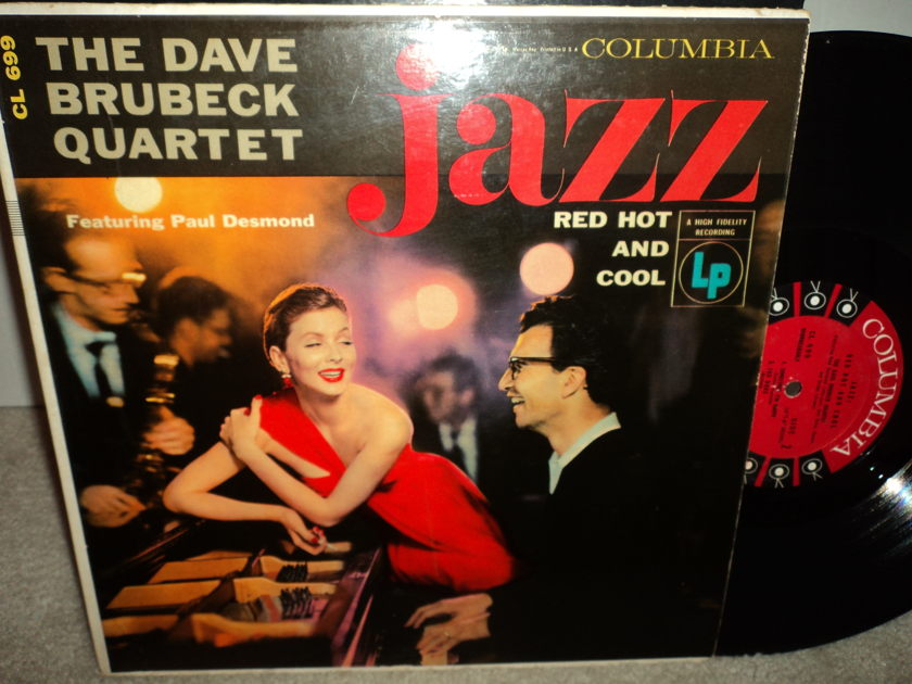 Dave Brubeck Quartet - Jazz - Red, Hot and Cool Columbia CL 699 (6-eye) Mono
