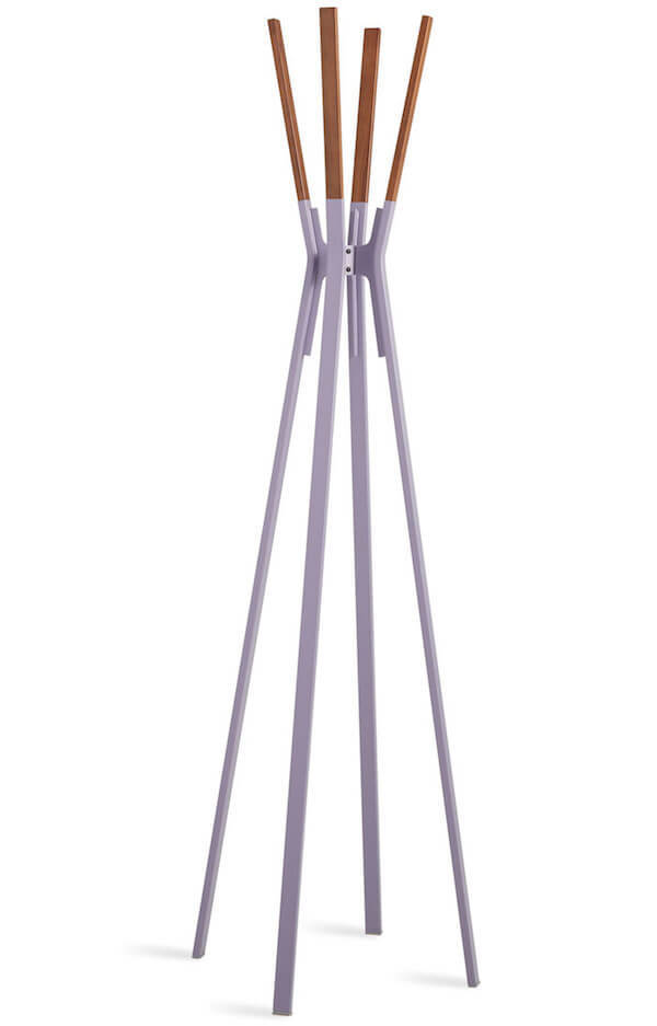 Blu Dot Splash Coat Rack in Lilac