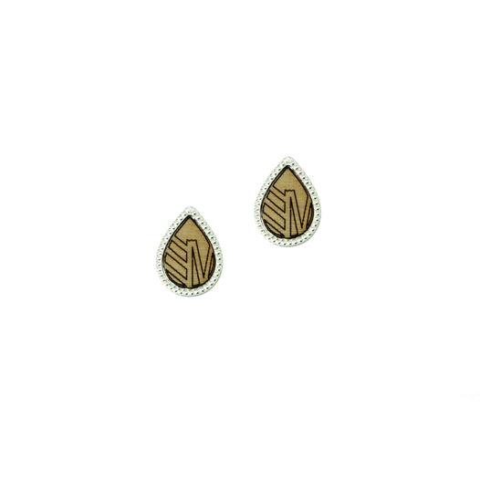 Серебряные серьги из коллекции Капля