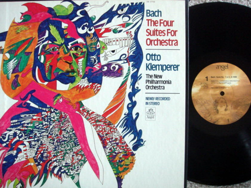 EMI Angel / KLEMPERER, - Bach Four Suites for Orchestra, MINT, 2LP Box Set!
