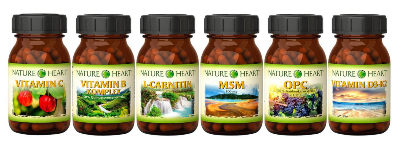 Echt Vital und nature heart Nahrungsergänzungsmittel OPC MSM Robert Franz