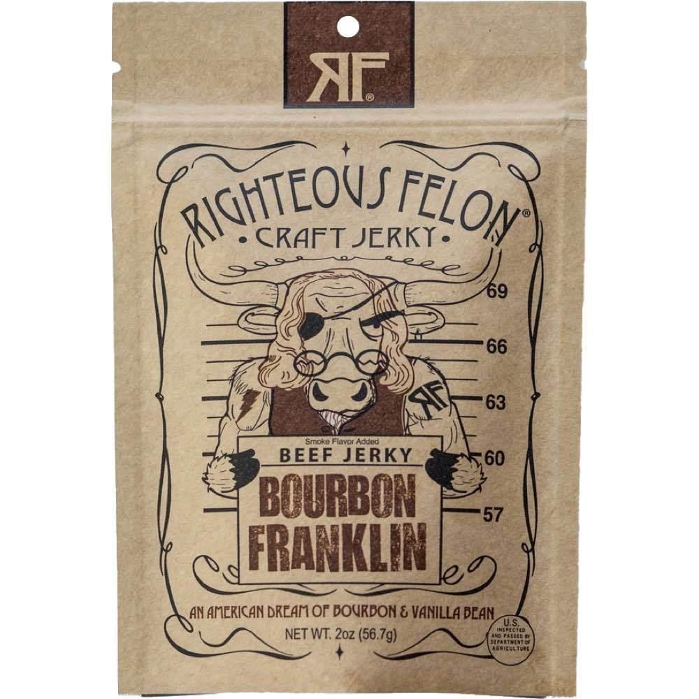 Righteous Felon Bourbon Franklin Tender Beef Jerky