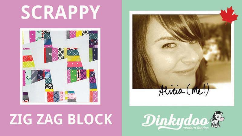 quilt tutorial how to make a scrappy zig zag block