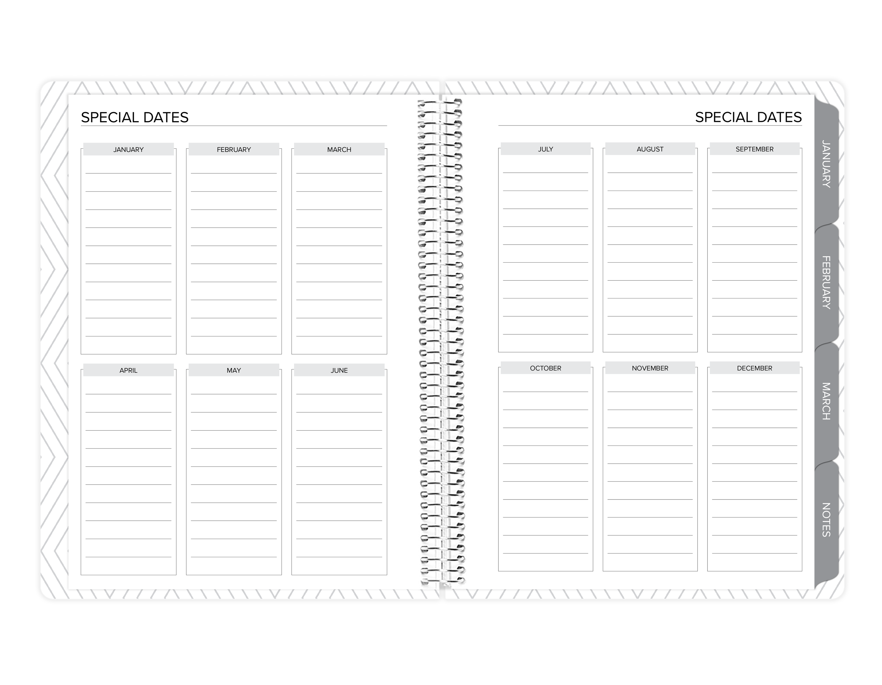 amplify planner special dates