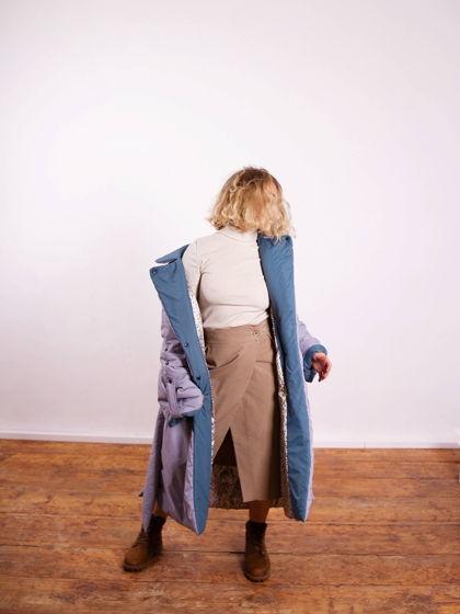 Длинная юбка на запАхе с карманами