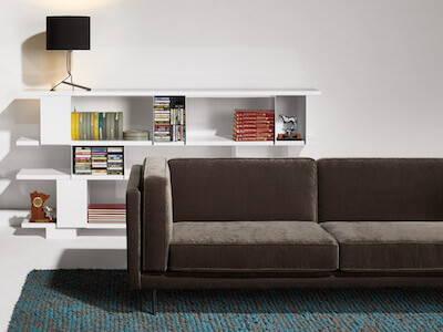 Blu Dot Bank Sleeper Sofa, featured in Mink Velvet