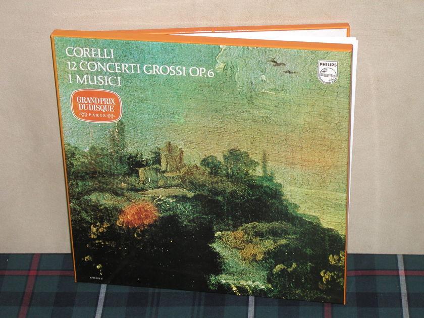 I Musici      Corelli 12 Concerti - Grossi Op.63LP Boxset Philips Import pressing 6770 Colorback
