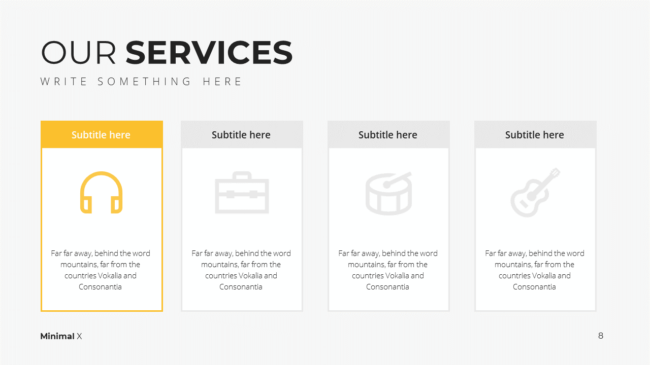Minimal X Consulting Firm Proposal Presentation Template Services