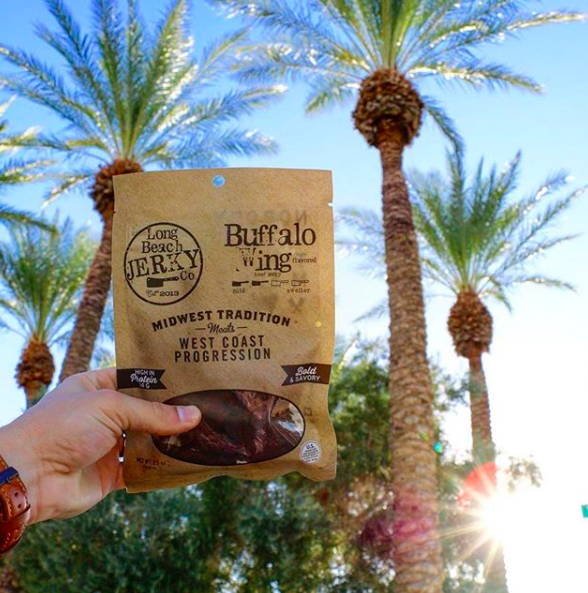 Long Beach Jerky Co Buffalo Wing JerkyGent Beef Jerky Subscription Box Jerky of The Month Club