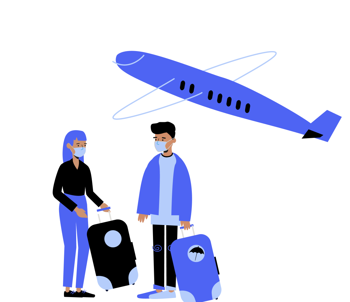 Company retreat flights and COVID guidelines